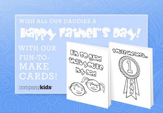 Free Printable Father's Day Cards from Company Kids (w. giveaway)