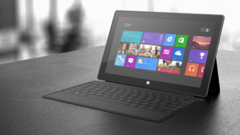 Microsoft Surface Tablet on Table