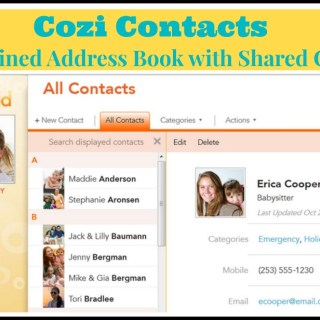New Cozi Contacts Designed to Streamline Your Address Book Through Shared Contacts {sponsored}
