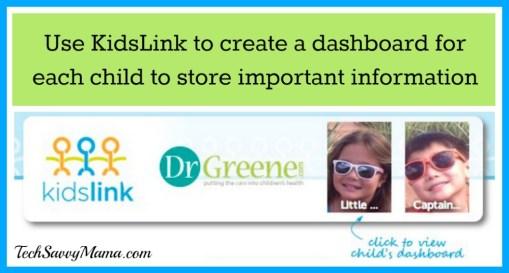 KidsLink Child Dashboard Navigation