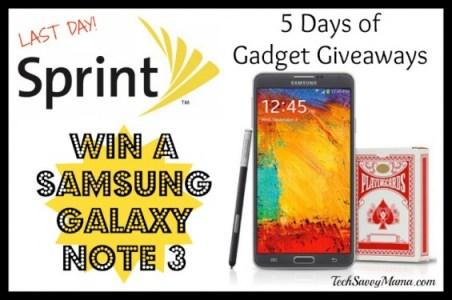 Sprint Samsung Galaxy Note 3 Giveaway I TechSavvyMama.com