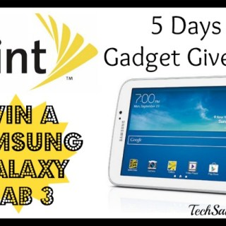 Day 3 of Sprint 5 Days of Gadget Giveaways: Samsung Galaxy Tab 3
