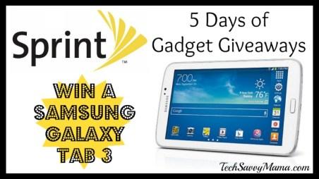 Sprint Samsung Galaxy Tab 3 Giveaway I TechSavvyMama.com