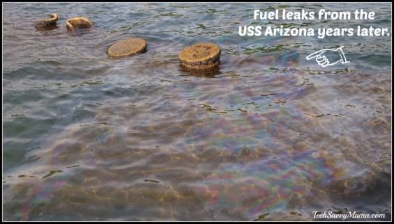 USS Arizona Fuel Leak