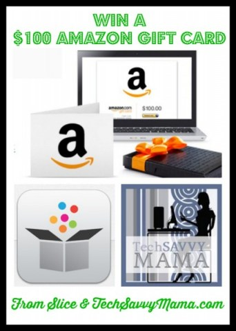$100 Amazon GC Giveaway from Slice and TechSavvyMama.com