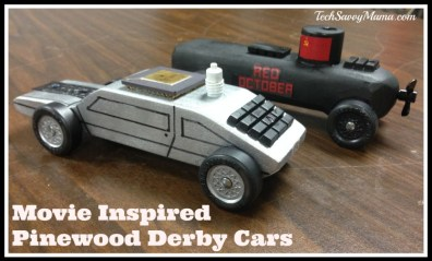 Movie Inspired Pinewood Derby Cars I TechSavvyMama.com