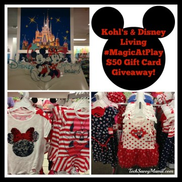 Disney #MagicAtPlay at Kohl's $50 Gift Card Giveaway