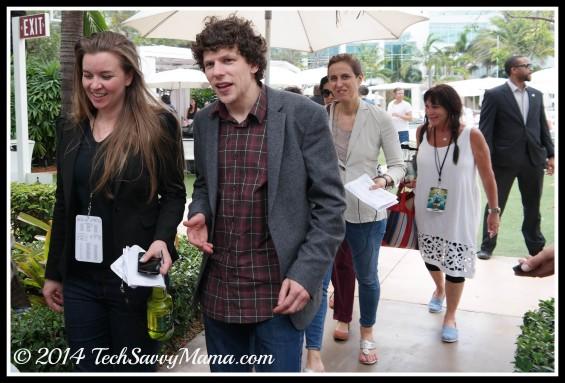 esse Eisenberg at Rio 2 premiere weekend.