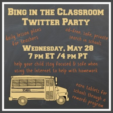#BingClassroomChat Bing in the Classroom Twitter Party