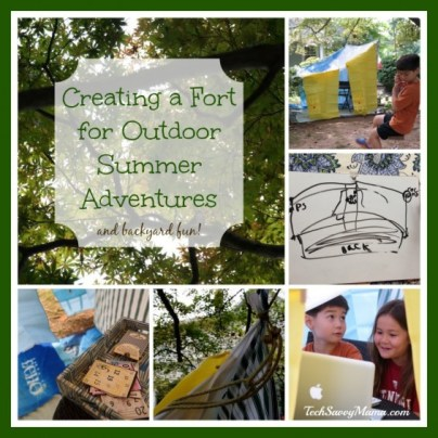 Creating a Fort for Outdoor Summer Adventures and Backyard Fun