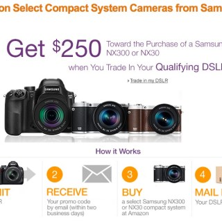 Join  #SamsungNXLive with Amazon TODAY & Earn $250 towards Samsung NX300 or NX30 Camera