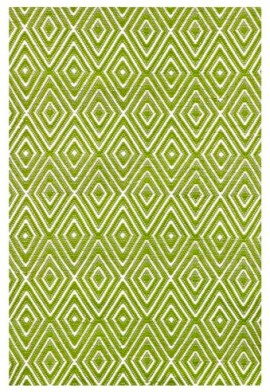 Dash and Albert Rugs Woven Diamond Sprout/White Indoor/Outdoor Rug from Wayfair.com