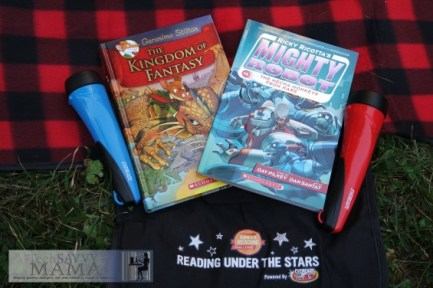 Scholastic Summer Reading Reading Under the Stars Books and Blanket