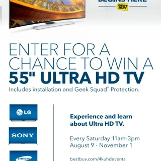 Best Buy Invites You to Learn about 4K Ultra High Definition TVs Every Saturday