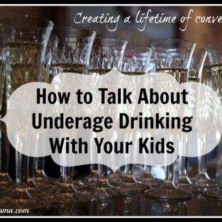 How to Talk About Underage Drinking With Your Kids #TalkEarly {video}