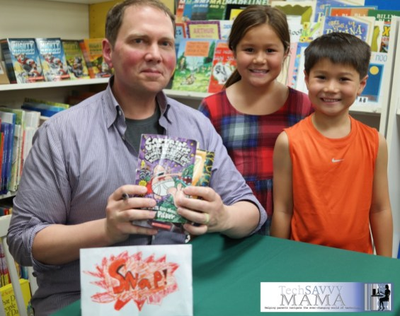 Meeting Dav Pilkey ©2014 Leticia Barr