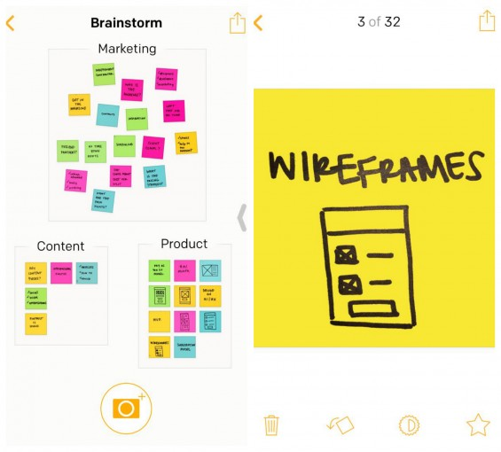 Post-it® Plus App Organize and Closeup Note