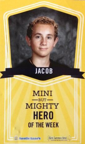 Jacob, Mini but Mighty Hero, Alex's Lemonade Stand
