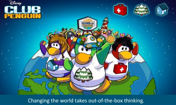 Club Penguin Changing the World Takes Out of the Box Thinking