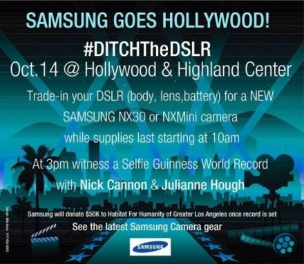 Samsung Hollywood #DitchtheDSLR Day