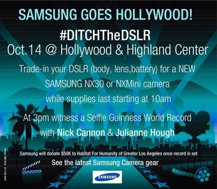 Samsung Hollywood #DitchtheDSLR Day