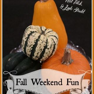 Fall Weekend Fun: FrankenPets, Glow in the Dark Nail Polish, and Apple Strudel