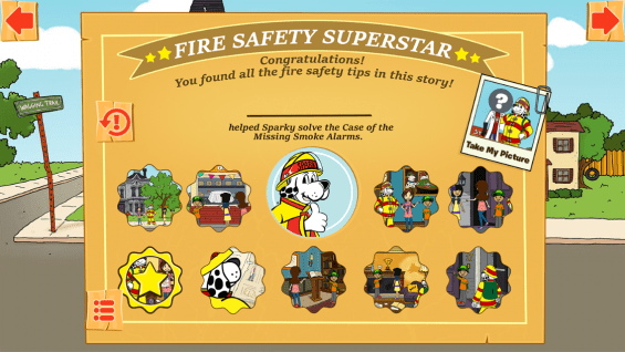The Case of the Missing Smoke Alarms App Positively Reinforces Fire Safety Lessons