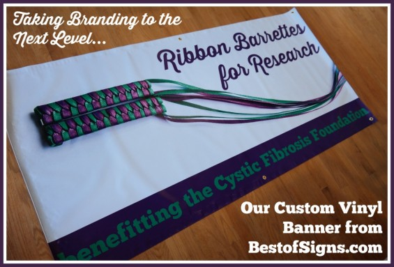 Ribbon Barrettes for Research Custom Vinyl Banner