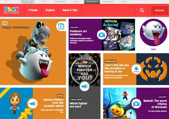 Play Nintendo Kids' Section of the Site
