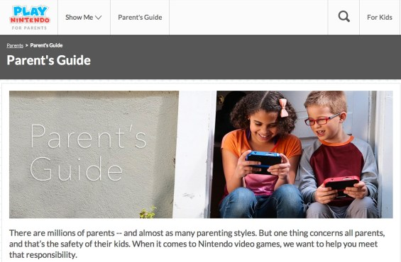 Play Nintendo Parents' Site