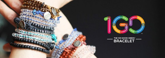 2014 Gift Guide Gifts that Give Back- 100 Good Deeds Bracelet