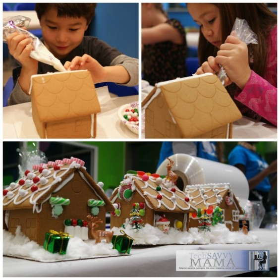 Decorating Gingerbread Houses at Make Meaning Bethesda