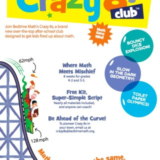 Free Crazy 8s Clubs Make Preschoolers and Elementary Ages Fall in Love with Math