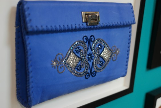 A Beaded Leather Clutch at Pascale Théard Creations