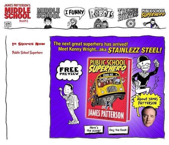 James Patterson Public School Superhero Website