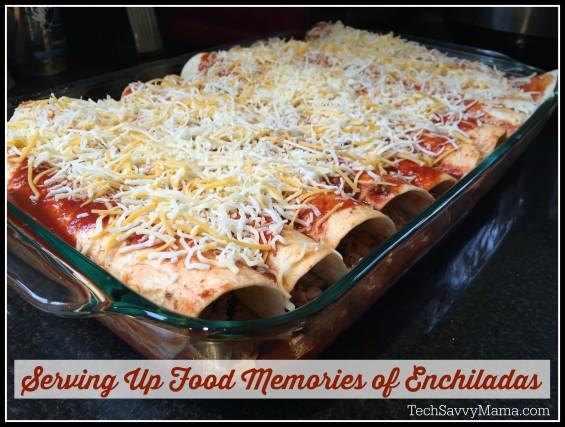 Serving Up Food Memories of Enchiladas for #Pyrex100 on TechSavvyMama.com