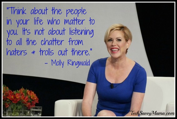 """""""Think about the people in your life who matter to you. Molly Ringwald quote"""