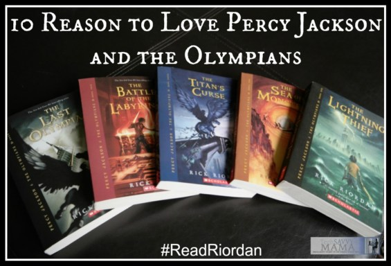 10 Reasons to Love Percy Jackson and the Olympians with a box set giveaway on TechSavvyMama.com