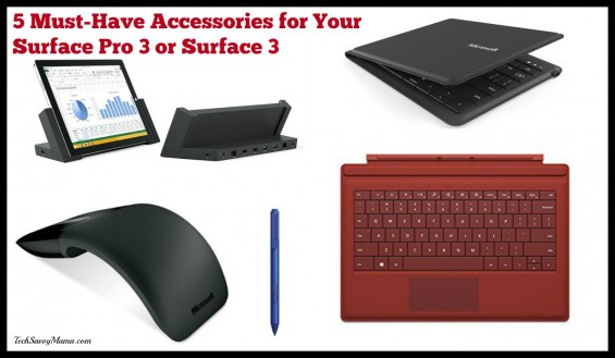 5 Must Have Accessories for Your Surface Pro 3 or Surface 3. The full list and links on TechSavvyMama.com