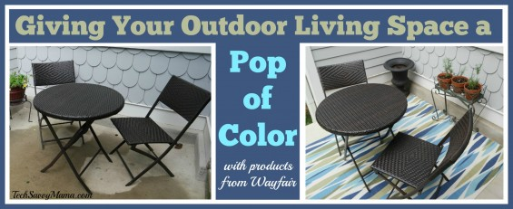 Adding a Pop of Color to Your Outdoor Living Space with products from Wayfair.com. See how I did it on TechSavvyMama.com