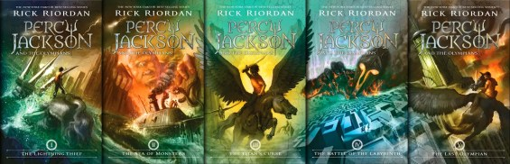 Percy Jackson and the Olympian Series Covers