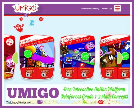 UMIGO Free Interactive Online Platform Reinforces Grades 1-2 Math Concepts
