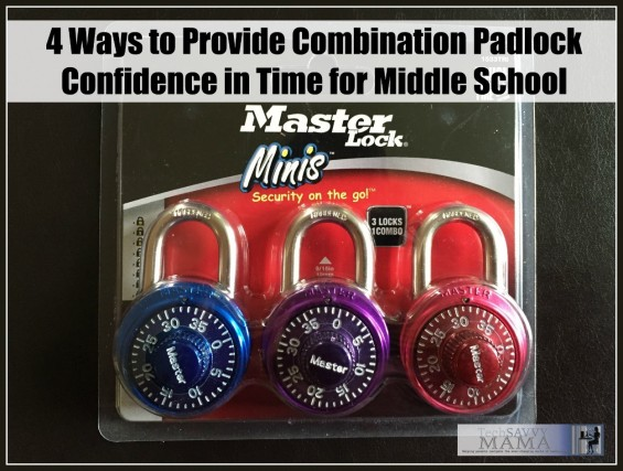 4 Ways to Provide Combination Padlock Confidence in Time for Middle School on TechSavvyMama.com