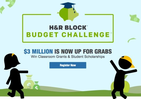 Free H&R Block Budget Challenge Teaches Financial Literacy and Incentivizes with Classroom Grants & Student Scholarships