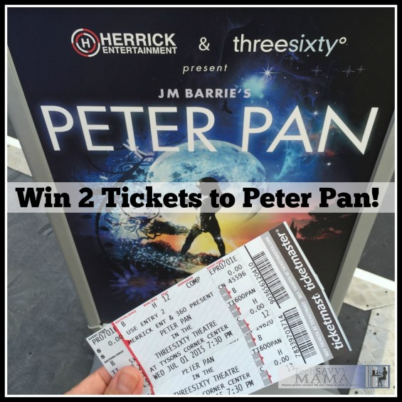 Win 2 Tickets to Washington, D.C. Threesixty Theatre's Production of Peter Pan on TechSavvyMama.com