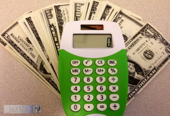 Calculator and Money © Leticia Barr, All Rights Reserved 2015