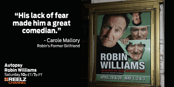 Celebrate Robin Williams' Life During Premiere of Autopsy on REELZ Tonight (8/8 10pm ET)