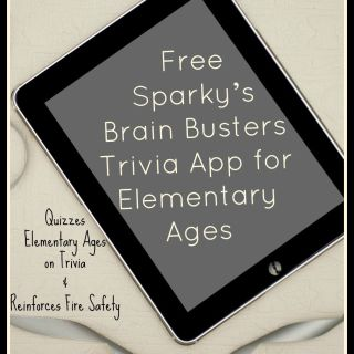 Review: Free Sparky's Brain Busters App Quizzes Elementary Ages on Trivia & Reinforces Fire Safety