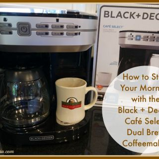 How to Start Your Morning with the Black + Decker Café Select Dual Brew Coffeemaker with Travel Mug with video review on TechSavvyMama.com