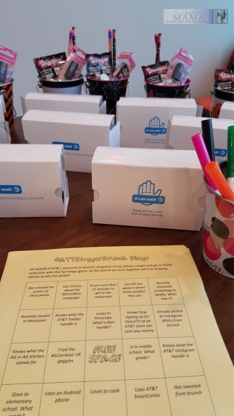 ##ATTBloggerBrunch Activities: Bingo and Google Cardboard Virtual Reality Goggles